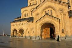 La cattedrale di Sameba Immagini Stock
