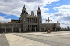 La cattedrale di Santa Maria la Real de la Almudena, Madrid, Spagna Fotografie Stock Libere da Diritti