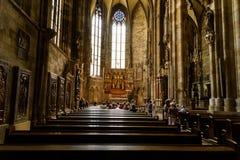 La cattedrale di Santo Stefano (Stephansdom) a Vienna Fotografia Stock Libera da Diritti
