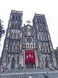 La cattedrale di St Joseph a Hanoi Fotografie Stock