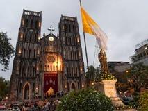 La cattedrale di St Joseph a Hanoi Immagine Stock