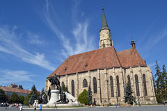 La cattedrale di St Michael di Cluj Fotografia Stock Libera da Diritti