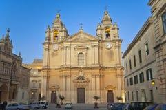La cattedrale di St Paul, Mdina, Malta Fotografia Stock Libera da Diritti