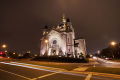 La cattedrale di St Paul a St Paul, Minnesota fotografia stock