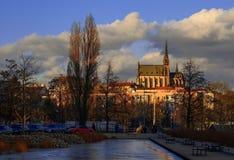 La cattedrale di St Peter e di Paul a Brno Fotografie Stock Libere da Diritti