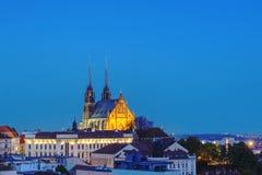 La cattedrale di St Peter e di Paul a Brno Fotografia Stock