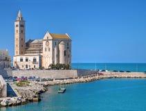 La cattedrale di Trani. Apulia. Fotografia Stock Libera da Diritti