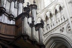 La cattedrale di vede - l'organo immagini stock