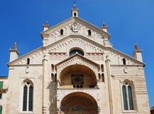La cattedrale di Verona, Italia immagine stock libera da diritti