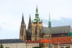 La cattedrale di Vitus del san a Praga Fotografia Stock Libera da Diritti
