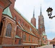 La cattedrale di Wroclaw Fotografia Stock Libera da Diritti