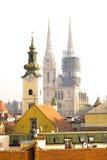 La cattedrale di Zagabria in Croazia - stile gotico, cattolico, istituzione della chiesa Fotografia Stock