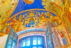 La cattedrale dipinta di natività in Cremlino di Suzdal' fotografie stock