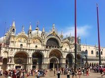 La cattedrale famosa di St Mark Venezia L'Italia fotografie stock