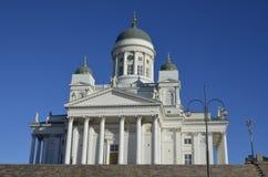 La cattedrale a Helsinki Fotografia Stock