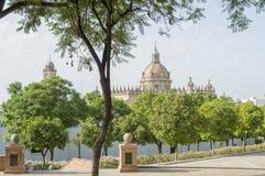 La cattedrale a Jerez de la Frontera Immagini Stock Libere da Diritti