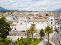 La cattedrale Latacunga Ecuador Immagini Stock