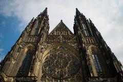 La cattedrale metropolitana dei san Vitus, Wenceslaus e Adalbert Fotografie Stock