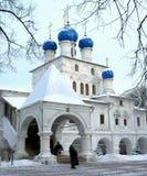 La cattedrale nella sosta di Kolomenskoe di Mosca Immagini Stock
