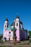La cattedrale ortodossa di Spirito Santo in Cernivci Immagine Stock