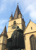 La cattedrale riformata di Sibiu Fotografia Stock Libera da Diritti