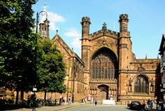 La cattedrale verso ovest fronteggia, Chester Fotografia Stock Libera da Diritti