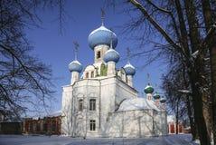 La cattedrale Vladimir Icon della madre di Dio Pereslavl Zalesskiy, regione di Yaroslavl, Immagine Stock