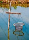La cattura di pesca Immagine Stock