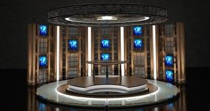 La causerie virtuelle de TV a placé 17 Image libre de droits