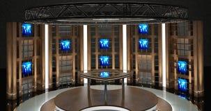La causerie virtuelle de TV a placé 17 Photographie stock libre de droits