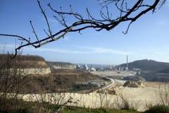 La cava di ENCI a Maastricht produce il cemento dalla roccia di marlstone che è storicamente appena sotto la superficie immagine stock