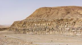 La cava in Ramon Crater fotografie stock libere da diritti
