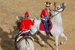 La cavalleria combatte, lotta della spada Fotografie Stock Libere da Diritti