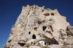 La caverna alloggia, in Cappadocia, la Turchia Immagini Stock