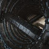 La caverna 3d moderno del tunnel rende illustrazione vettoriale