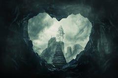 La caverna del vostro cuore fotografie stock