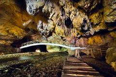 La caverna di Bolii in Romania Fotografie Stock Libere da Diritti