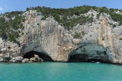 La caverna di Bue Marino sull'isola della Sardegna Fotografia Stock