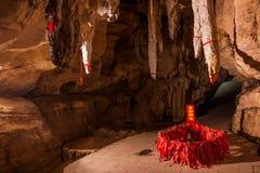 La caverna di Chongqing Banan District East River Buddha balza una tartaruga di cinque panni Immagini Stock