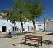 La caverna di Guadix alloggia il villaggio Fotografie Stock