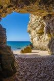 La caverna a Praia fa Beliche Immagine Stock