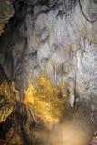 La caverne d'Uhlovitsa, est située 3 kilomètres au nord-est du village de Mogilitsa Photographie stock