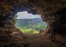 La caverne de fenêtre chez Cueva Ventana au Porto Rico Photo libre de droits