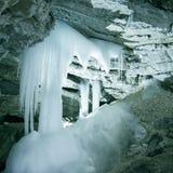 La caverne de glace Images libres de droits