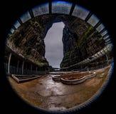 La caverne de la montagne de Tianmen est comme l'île de Taïwan photos libres de droits