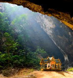 La caverne de Phraya Nakhon est l'attraction de les plus populaires est un four-gabl Image stock