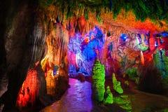 La caverne eau-érodée Photos libres de droits