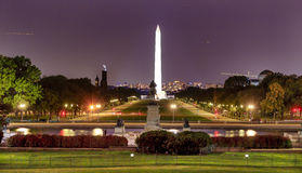 La CC di Smithsonian Washington Monument Washington del centro commerciale Immagini Stock Libere da Diritti