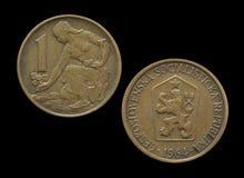 La Cecoslovacchia 1 corona svedese 1964 Fotografie Stock Libere da Diritti