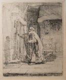 La ceguera de Tobit a partir de 1651 por Rembrandt fotos de archivo libres de regalías
